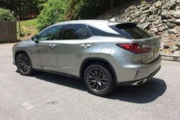 This is the sporty version of the RX 350 with the F SPORT package. (WTOP/Mike Parris)