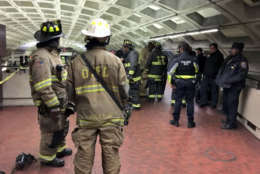 Photo shows DC firefighters at Metro Center