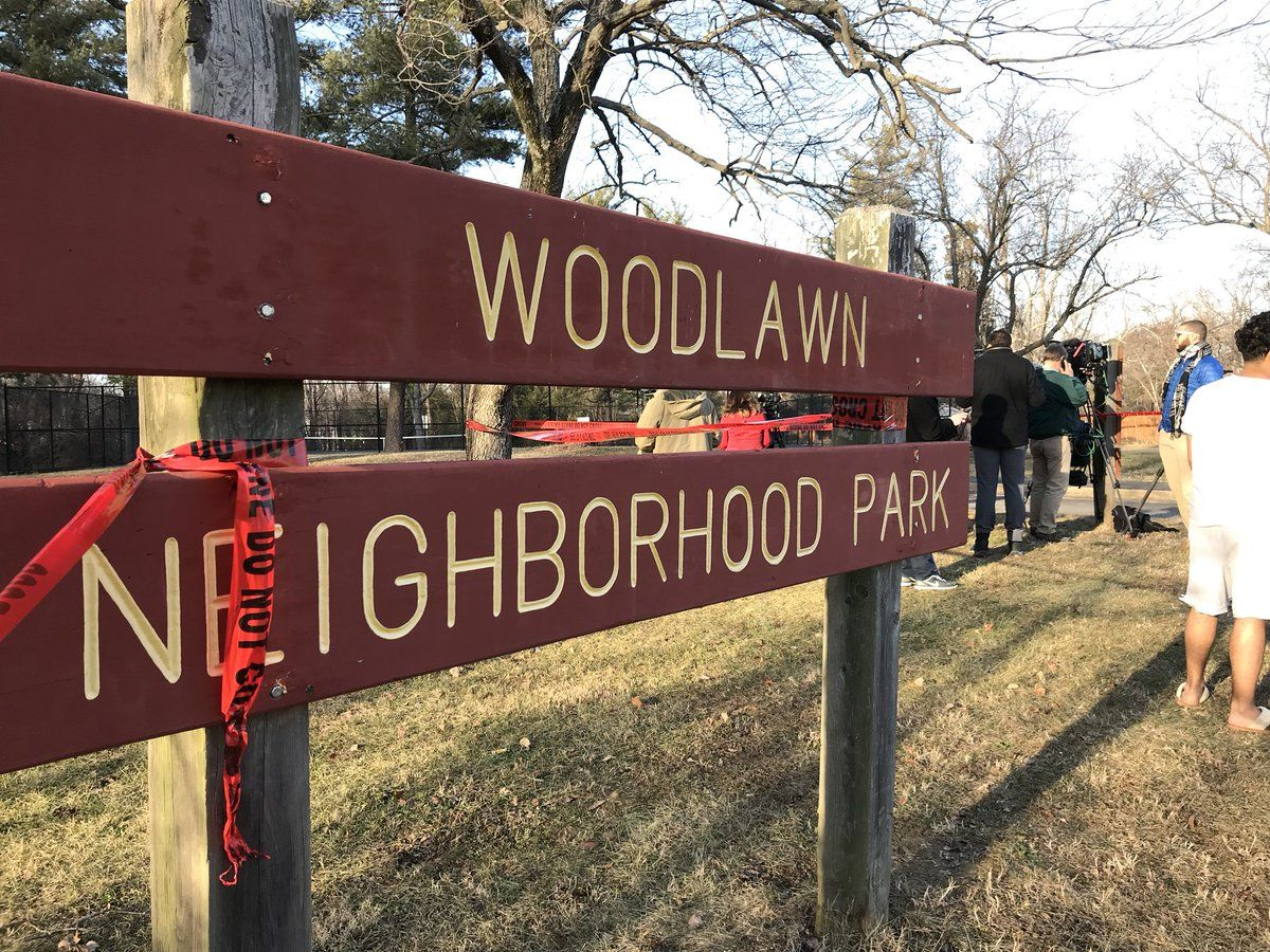 A body was discovered in Woodlawn Park in the Alexandria area of Fairfax County Friday morning. (WTOP/Michelle Basch)