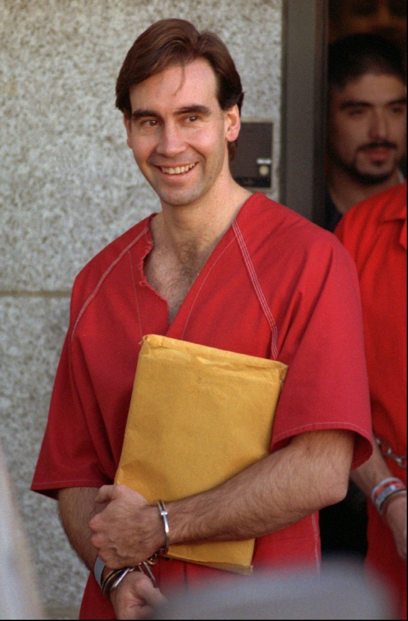 Addam Swapp leaves the federal courthouse in Salt Lake City on Tuesday, Jan. 6, 1998, following his asking for new trials for himself and his brother-in-law. The polygamous clan leader was involved in a Mormon chapel bombing and subsequent 13-day siege a decade ago. Their argument before the court was that the federal government had no jurisdiction in the case. The two are serving lengthy federal prison terms for a variety of convictions. (AP Photo/Douglas C. Pizac)