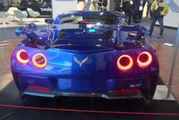 The electric Corvette was showcased at the 2018 CES in Las Vegas.(Courtesy Kenny Fried)