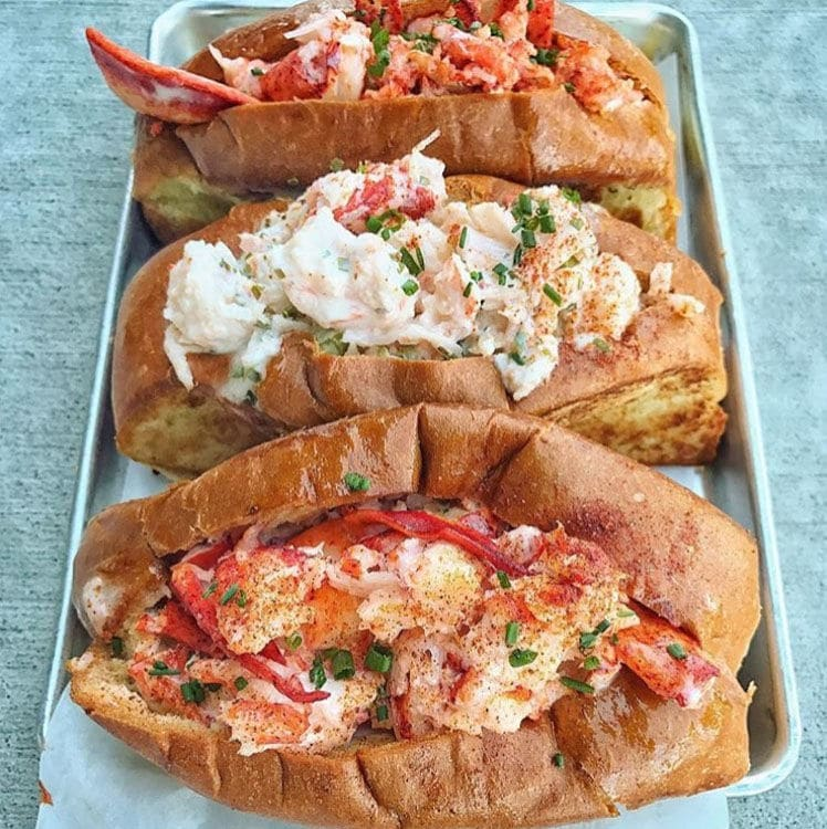 A look at the lobster rolls and lobster grinder. (Courtesy Slapfish)