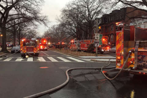 2 injured in Logan Circle town house fire; man jumped from 2nd story window to escape