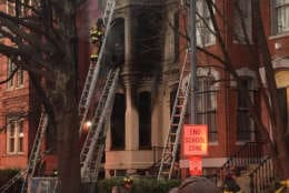 Firefighters got the blaze under control after about an hour, but were still knocking out hot spots around 8:30 a.m. (Courtesy D.C. Fire and EMS)