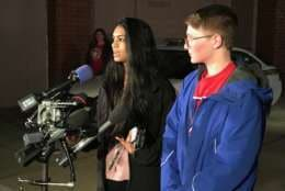 Sahithi Kondan (left) and Joel Shapiro are both sophomores who go to Wootton High School. (WTOP/Michelle Basch)