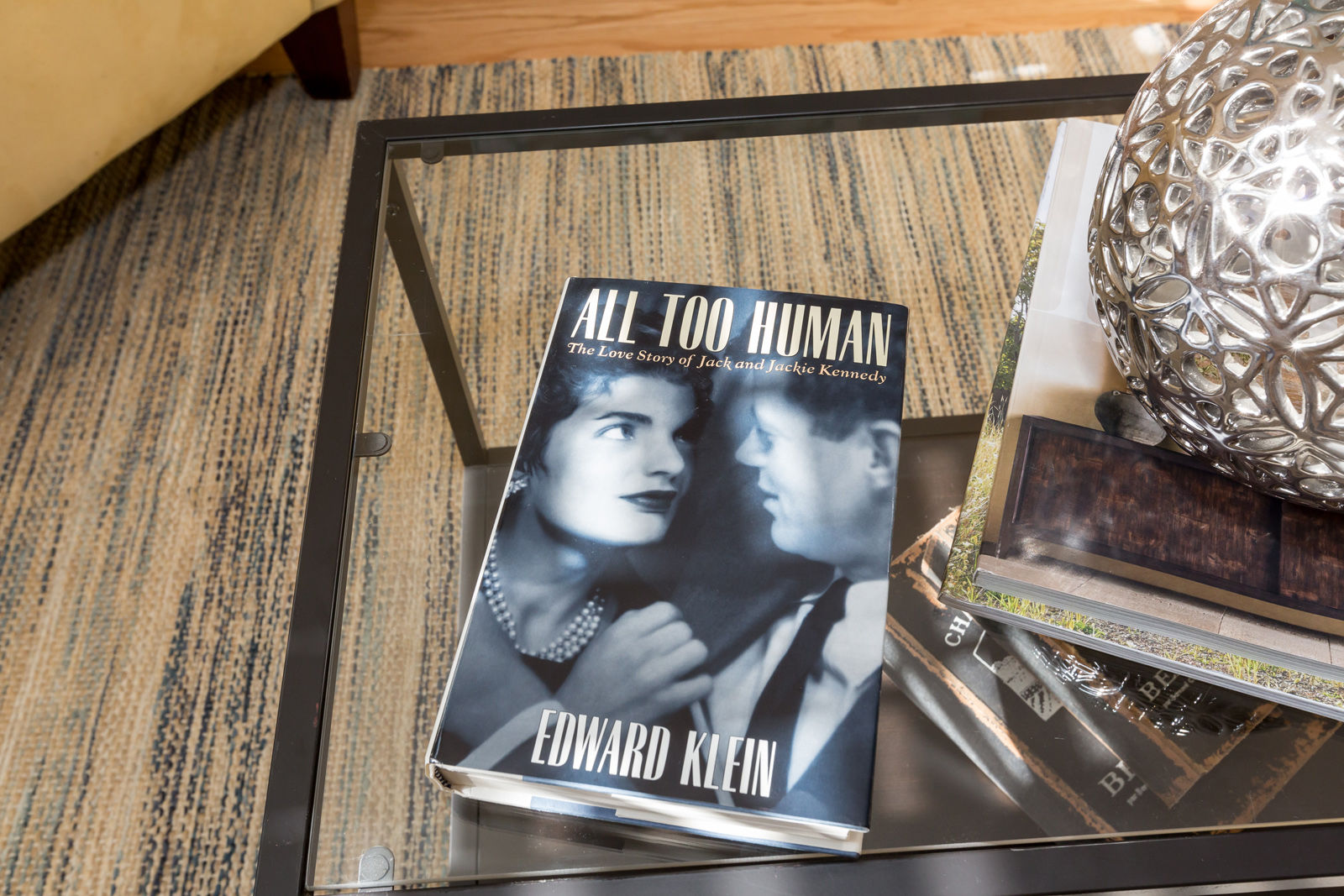 """The book """"All Too Human"""" about John and Jackie's love story and how they met at the house on 3419 Q Street NW. (Courtesy Sean Shanahan)"""