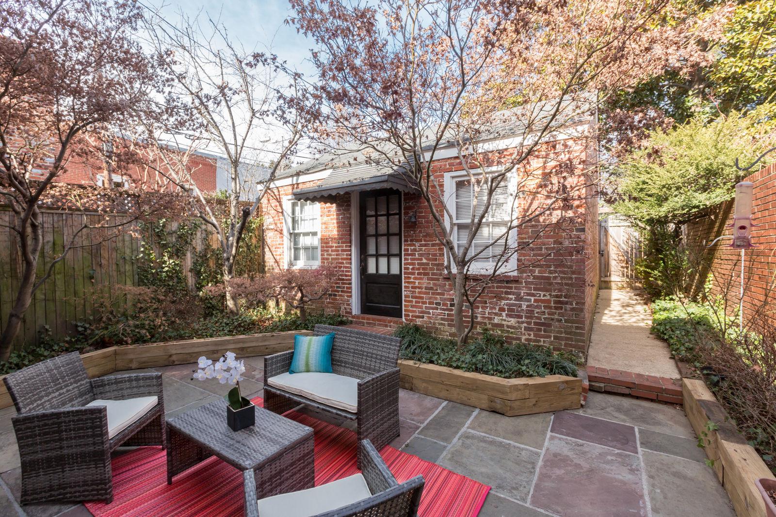 The backyard patio of the home. (Courtesy Sean Shanahan)