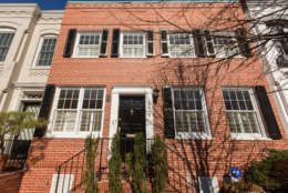 The outside of of 3419 Q Street NW. The home was originally two separate townhomes but were combined into one in 1955. (Courtesy Sean Shanahan)