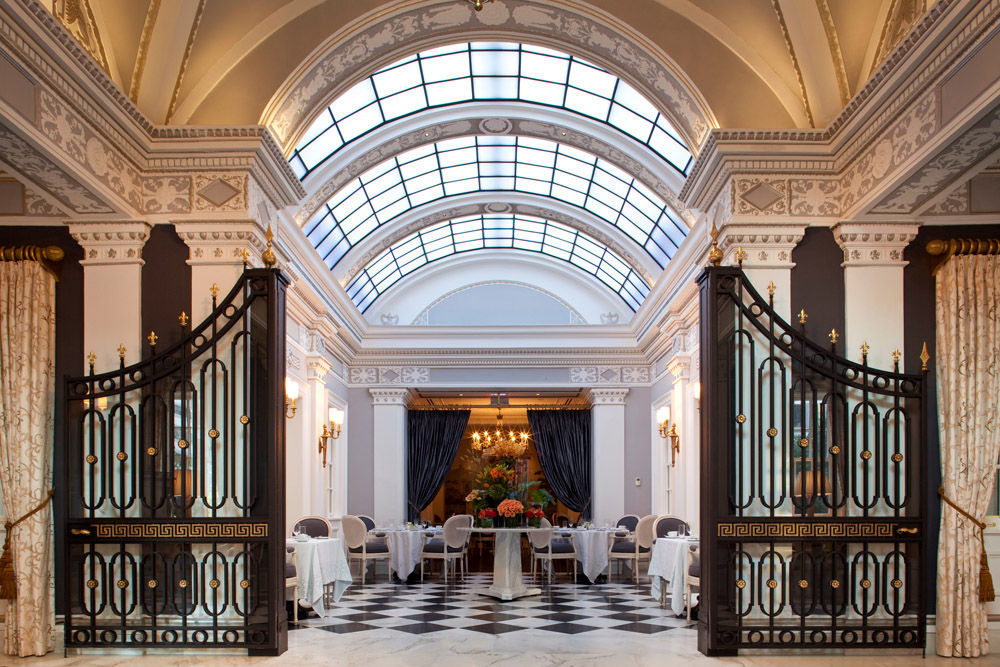 A skylight and gates decorate the interior of the Jefferson Hotel in Northwest D.C. The Jefferson ranked No. 3 hotel nationwide. (Courtesy U.S. News)
