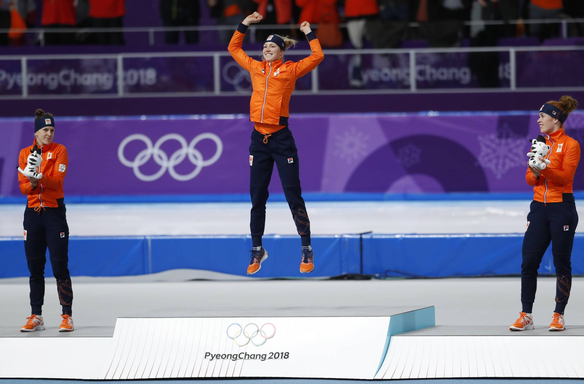GANGNEUNG, South Korea (AP) — An all-orange medal podium isn't really that  surprising at the Olympic speedskating oval anymore.