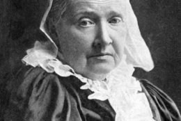 """Julia Ward Howe, composer and publisher of """"The Battle Hymn of the Republic """" in 1862, became a leader in the woman's  suffrage movementy in 1868. She also participated in moves to promote international peace. Julia Ward Howe is shown in this undated photo.  (AP Photo)"""