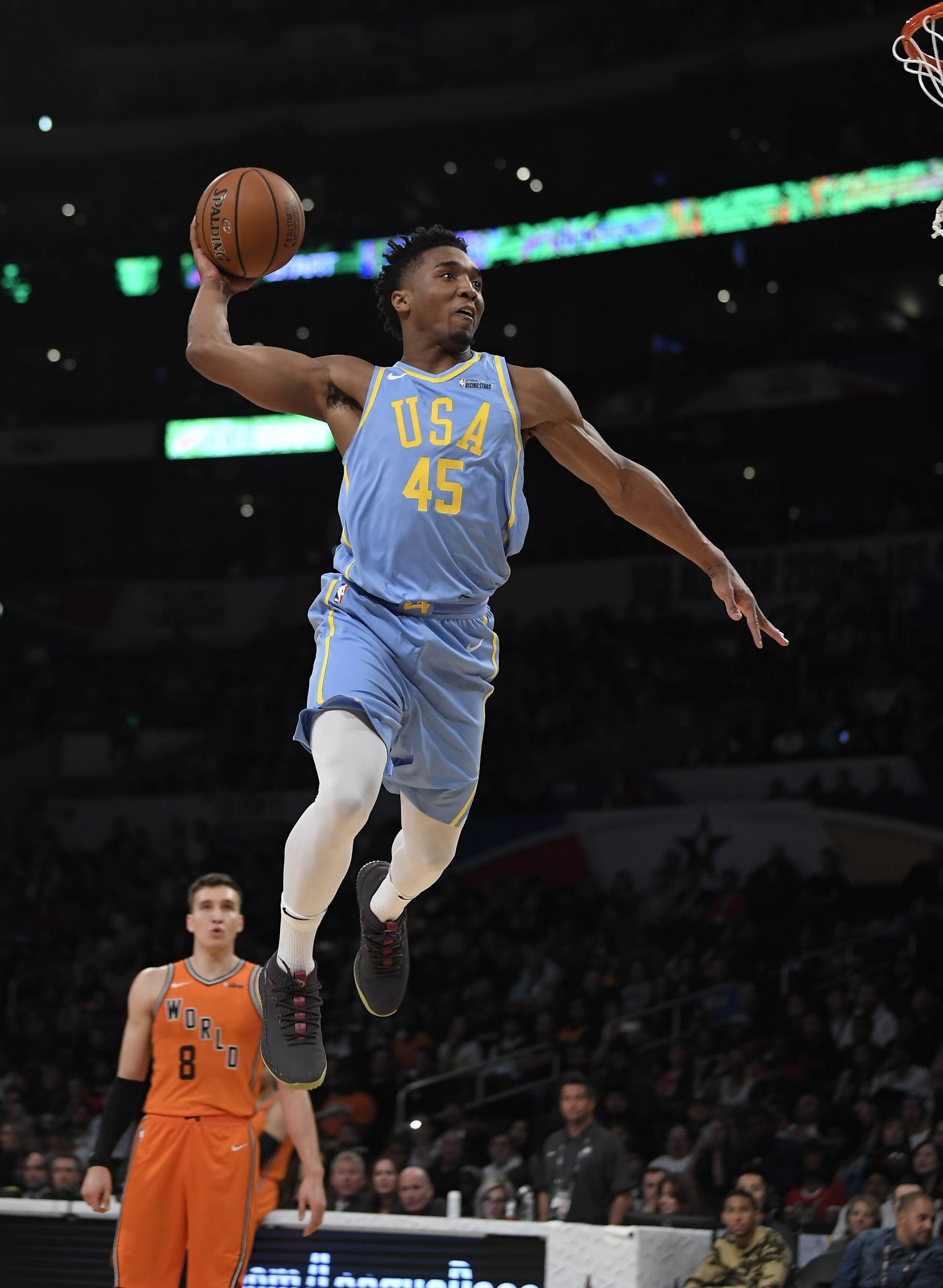Mitchell soars to dunk title, Booker sets 3-point record   WTOP