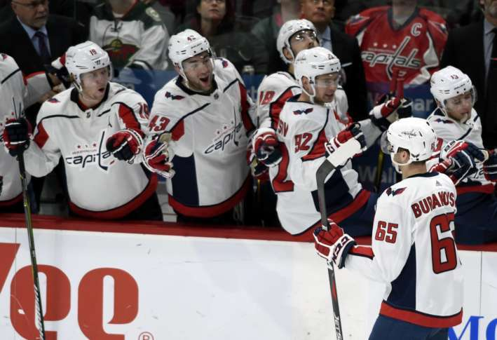 Ovechkin Wilson Lead Capitals To 5 2 Win Against Wild Wtop