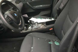 Damage to a car in D.C.'s Sheppard Park neighborhood. (Courtesy D.C. resident)