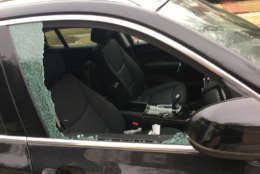 One of 47 cars that were broken into at some point on Wednesday night-Thursday morning in the D.C. Sheppard Park neighborhood. (Courtesy D.C. resident)