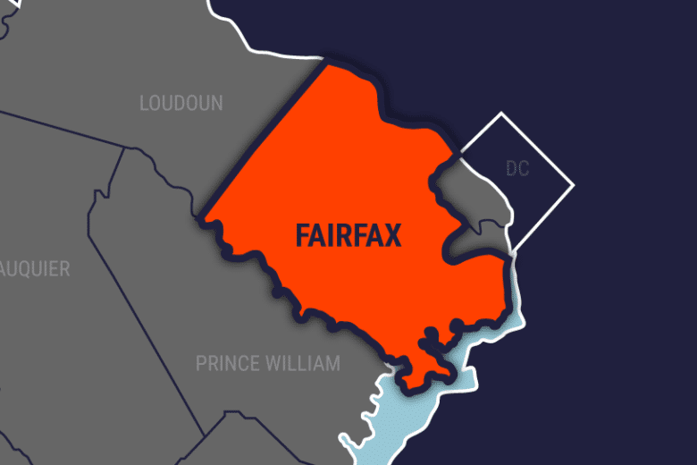 map of fairfax county va