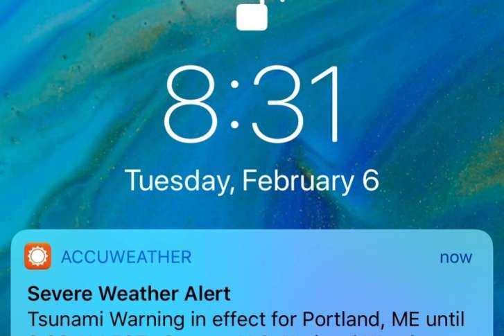 AccuWeather, feds trade blame for bogus tsunami warning | WTOP on yahoo weather, intellicast weather,