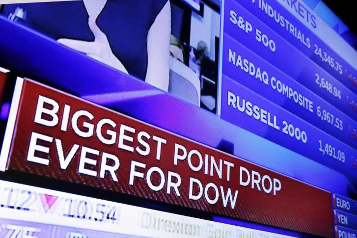 Wild Ride: Dow Plunges by almost  1600 Before Bouncing Back