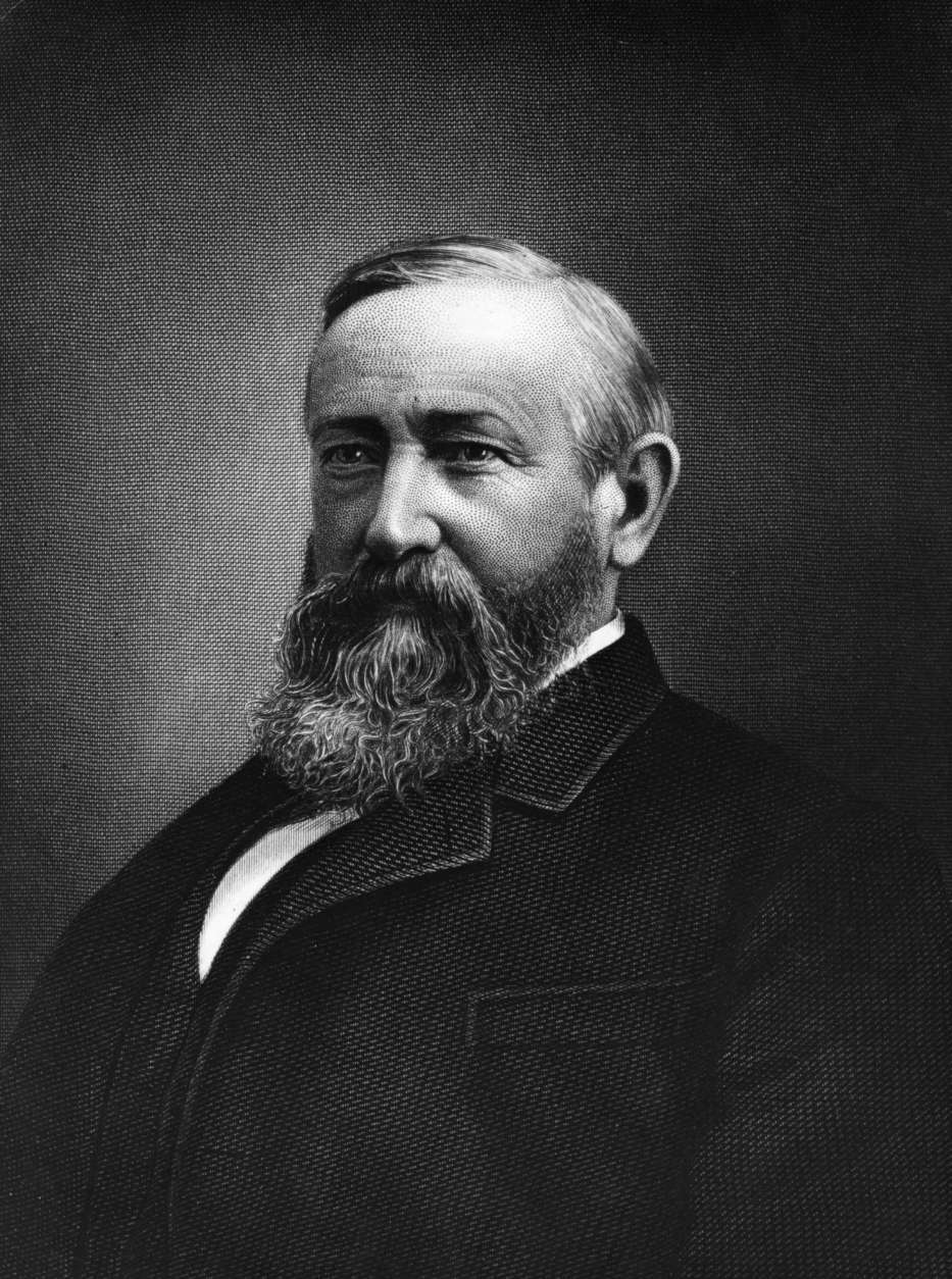 Benjamin Harrison, the 23rd President of the United States. Elected in 1888, Harrison was the grandson of William Henry Harrison, the 9th President of the United States.   (Photo by Hulton Archive/Getty Images)