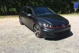 Volkswagen Golf GTI Autobahn's $37,110 fully-loaded price tag is no cheap date. (WTOP/Mike Parris)