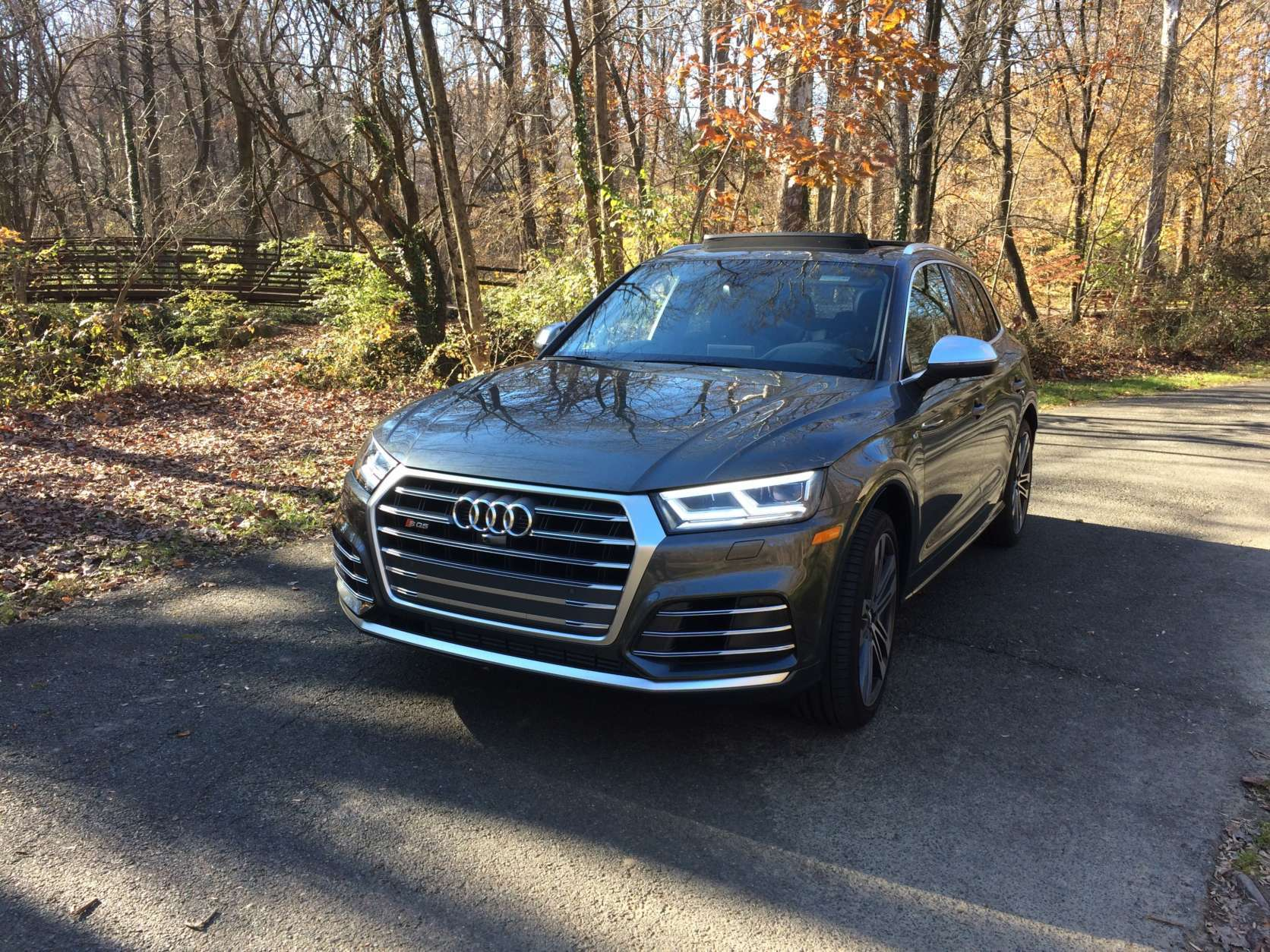 Car Guy Mike Parris said the latest Audi SQ5 combines a sporty driving machine with a crossover. The added comfort and technology makes it a better all-around crossover with a bit more fun. (WTOP/Mike Parris)