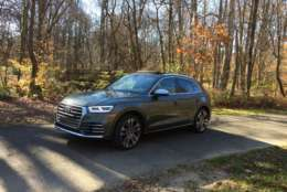 This is a SQ5 with a price; it starts at around $54,000, so it has to (and does) look different when parked next to the regular Q5. (WTOP/Mike Parris)