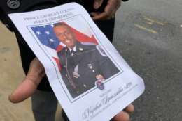 A funeral program for Cpl. Mujahid Ramzziddin. (WTOP/Kate Ryan)
