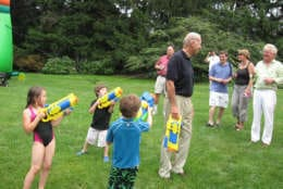 WASHINGTON , DC - JUNE 5: Vice President Joe Biden after his wife, Jill, launched a super soaker attack at the Naval Observatory in Washington, DC on June 5, 2010. (Photo by Roxanne Roberts/The Washington Post via Getty Images)