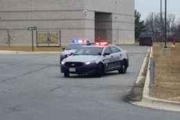An 11th grade student was shot Feb. 5 outside of Oxon Hill High School. (WTOP/Kathy Stewart)