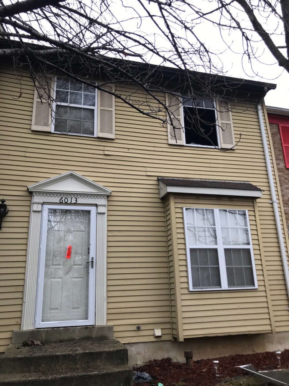 A view of the house where a deadly fire killed an 84-year-old woman in District Heights, Maryland. (WTOP/Kyle Cooper)