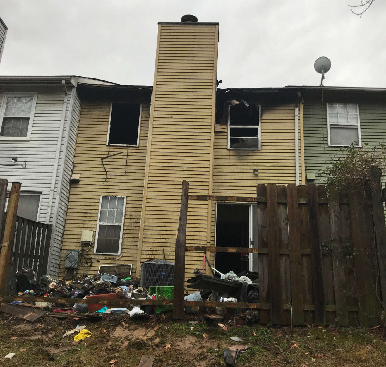 Prince George's County Fire Department is still investigating the cause of the fire, but officials said there were no working smoke alarms in the house. (WTOP/Kyle Cooper)