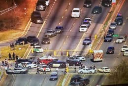 Scene of a police investigation that has shutdown traffic on MD-210, Indian Head Highway, in Prince George's County, Maryland. (Courtesy NBC4)