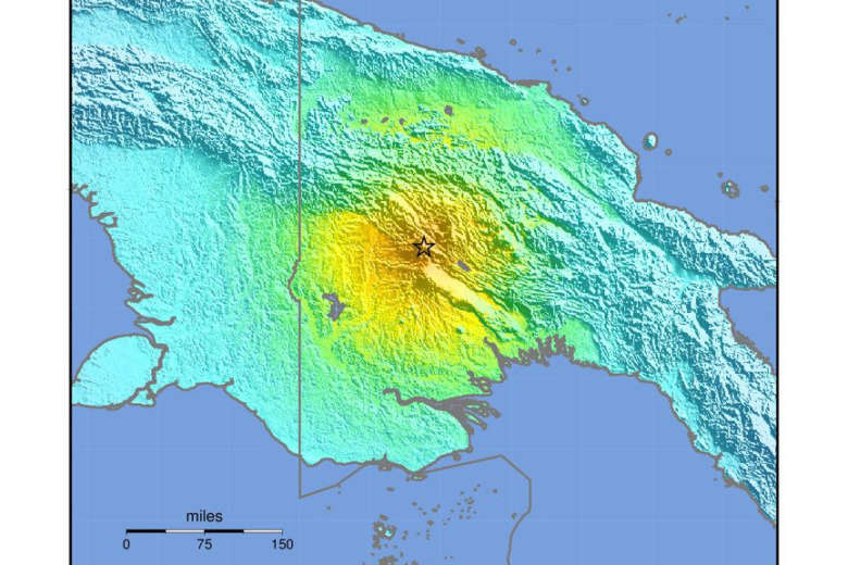 earthquake recorded in papua new guinea on feb 25 courtesy us geological survey