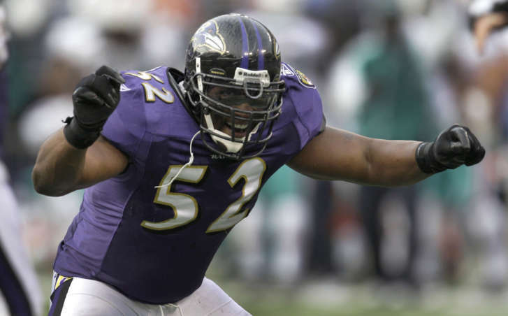 Baltimore Ravens linebacker Ray Lewis was named to the NFL s Hall of Fame  Class of 2018 in his first year on the ballot. (AP Photo Rob Carr) 6bbaa226a