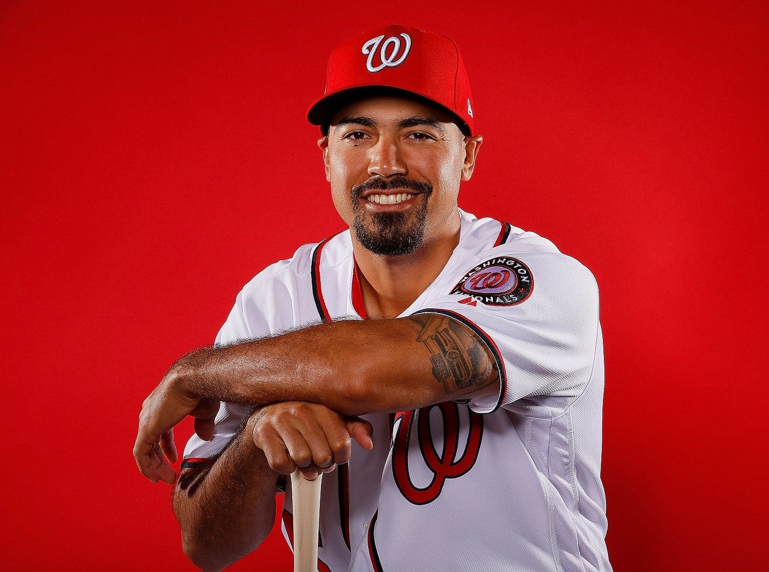 WEST PALM BEACH, FL - FEBRUARY 22:  Anthony Rendon #6 of the Washington Nationals poses for a photo during photo days at The Ballpark of the Palm Beaches on February 22, 2018 in West Palm Beach, Florida.  (Photo by Kevin C. Cox/Getty Images)