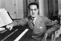 "George Gershwin, the modern composer best-known for his ""Rhapsody in Blue,"" died in hospital in Hollywood on July 11 after an operation for tumor on the brain. He was 39. George Gershwin shown in file photo, July 12, 1937. (AP Photo)"