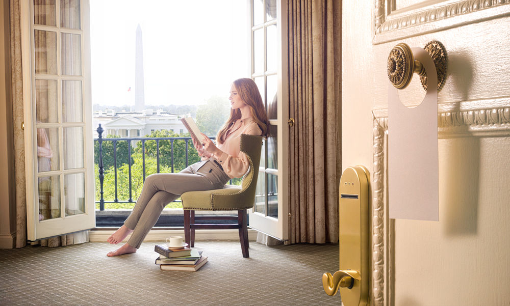 Some rooms in the Hay-Adams provide views of the White House. (Courtesy U.S. News)