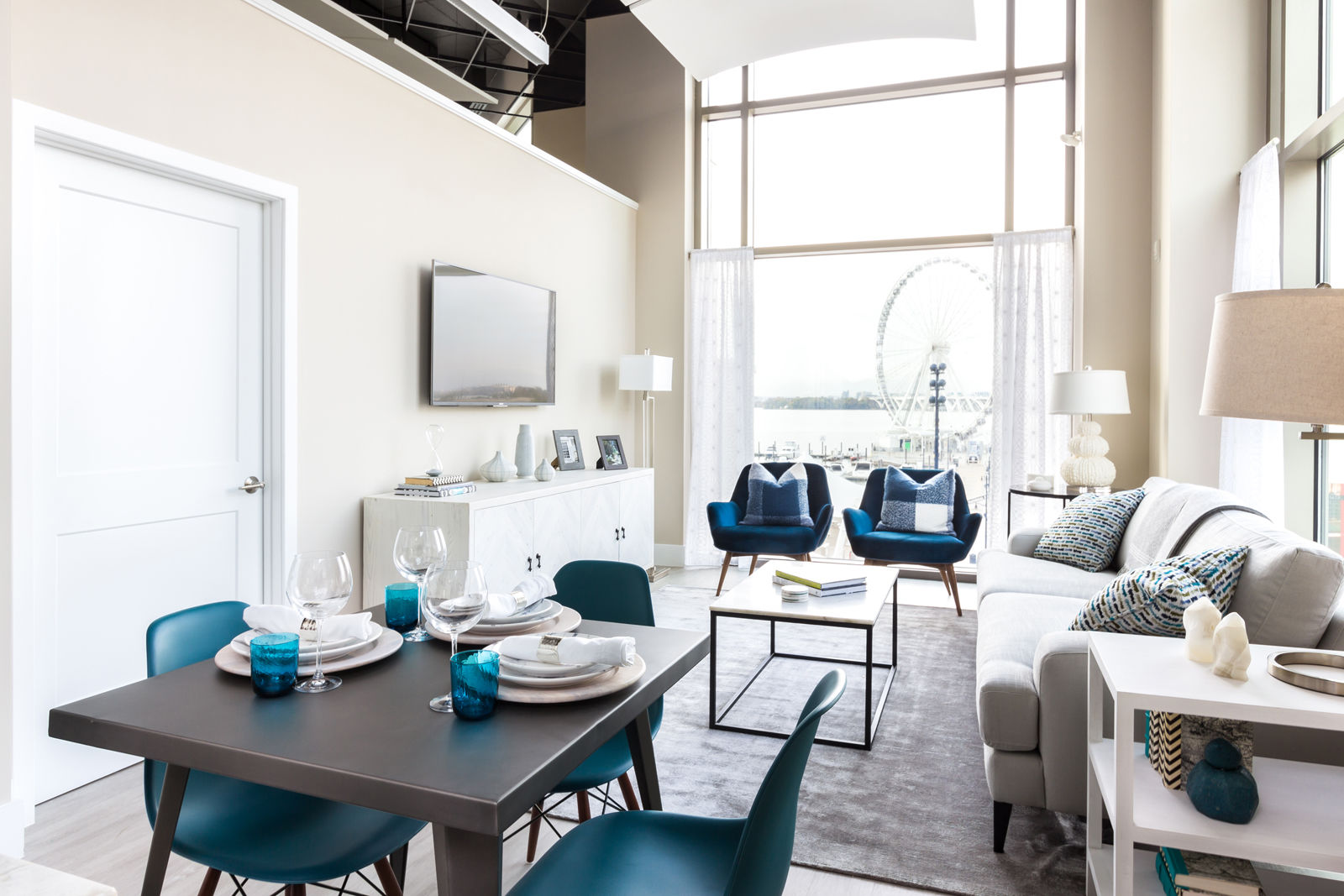 Located on National Harbor's waterfront, many of the condos in The Haven have views of the water and large balconies. The Peterson Companies said units are 10 to 15 percent larger than typical condos in the D.C. area. (Courtesy The Peterson Companies)