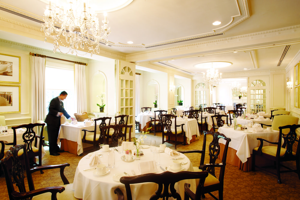 The hotel's dining room, named The Lafayette, won high praise from its guests. (Courtesy U.S. News)