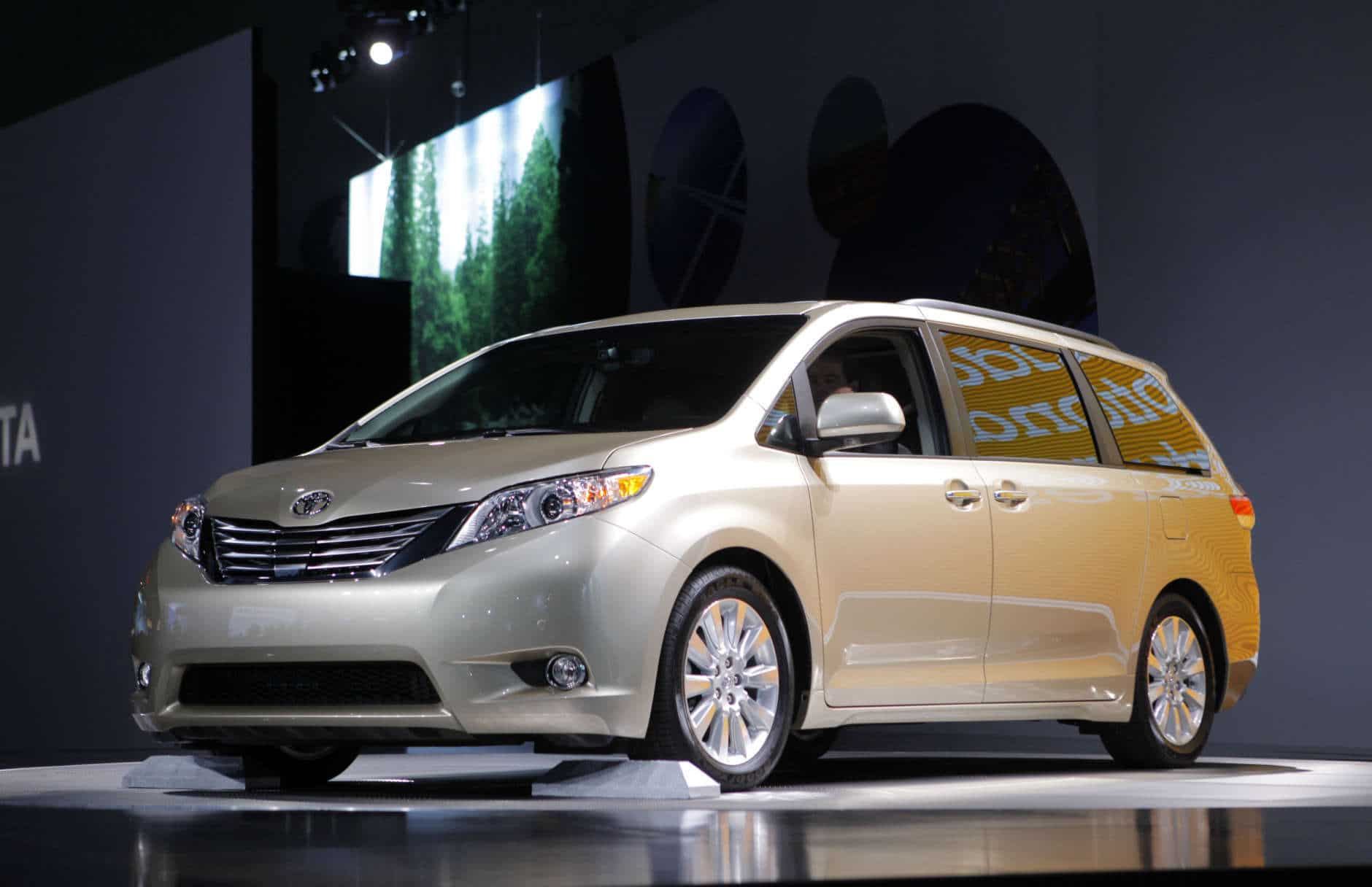 The 2011 Toyota Sienna debuts at the Los Angeles Auto Show in Los Angeles,  Wednesday, Dec. 2, 2009. (AP Photo/Jae C. Hong)