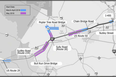 Free, discounted bus rides offered as I-66 toll project starts slowing traffic