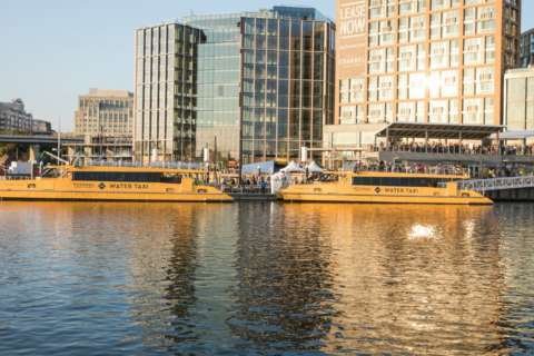 The Wharf water taxi service to National Harbor starts