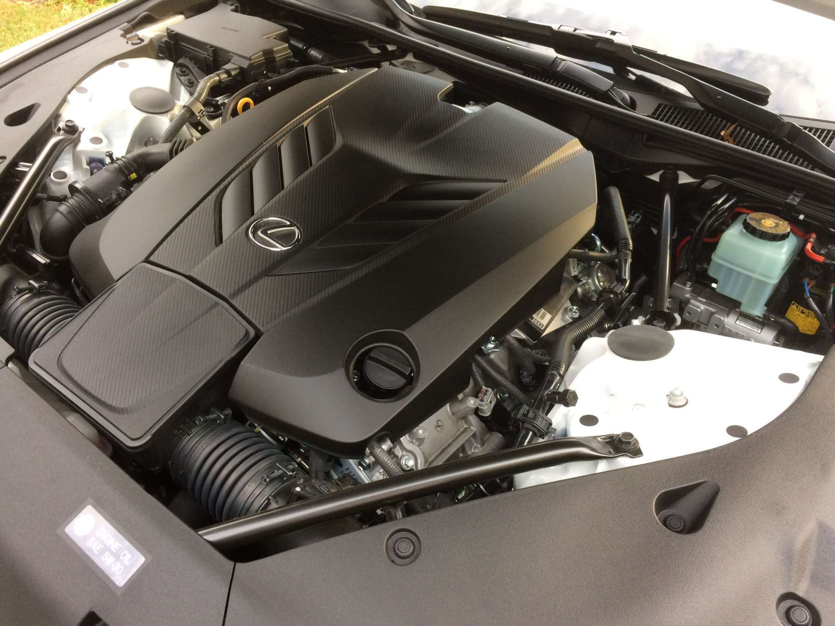 The 5 liter V-8 is a rare engine today as there are no turbos or superchargers. (WTOP/Mike Parris)