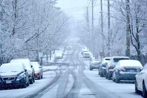 Snowy mix leaves behind slushy roads, icy patches