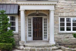 house front door with portico entrance