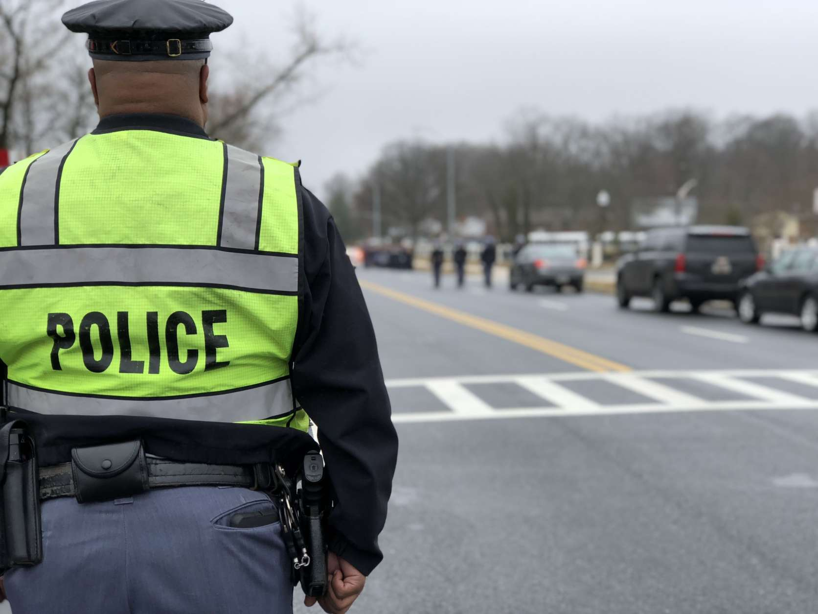 Police assembled for the funeral. (WTOP/Kate Ryan)