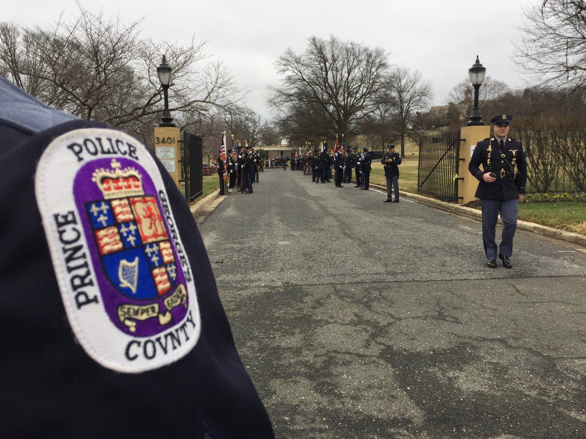 Color guards await the procession's arrival. (WTOP/Kristi King)