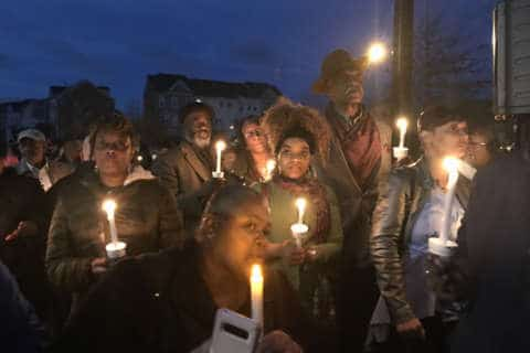 Mourners gather for candlelight vigil for slain Prince George's Co. officer