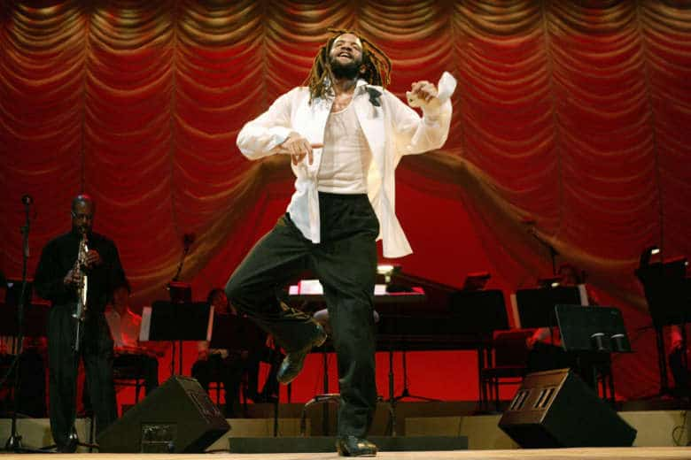 Qa tap dancer savion glover gets all funkd up at national tap sensation savion glover performs during a dress rehearsal for classical savion tuesday jan 4 2005 at the joyce theater in new york fandeluxe Gallery