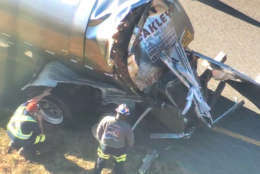 photo shows a tanker truck